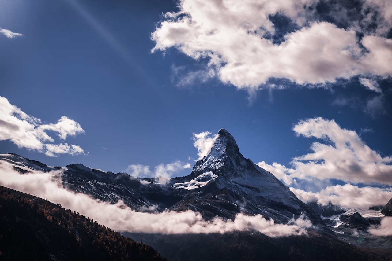 Matterhorn Swiss Alps with clear blue sky