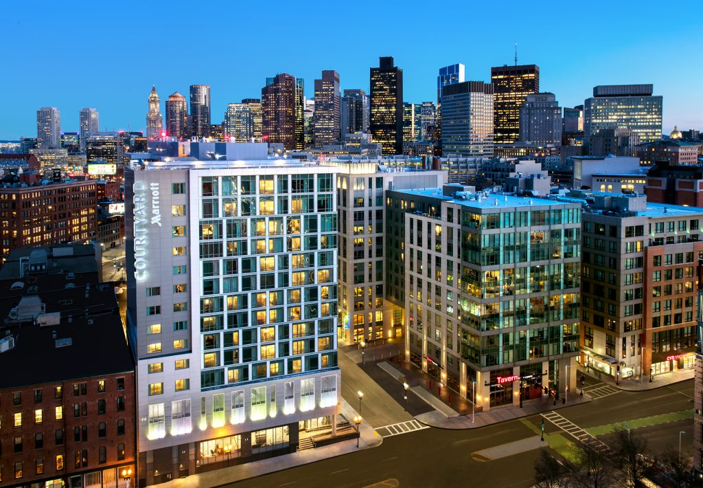 Exterior shot of Courtyard Marriott Boston Downtown/North Station