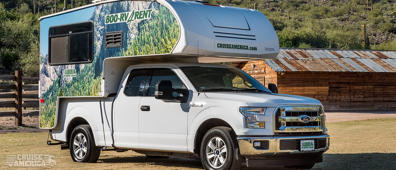 Cruise America truck camper rv rental for couples