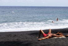 Kehena Black Sand Nude Beach, Big Island in Hawaii