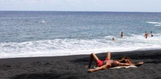 Kehena Black Sand Nude Beach, Big Island in Hawaii