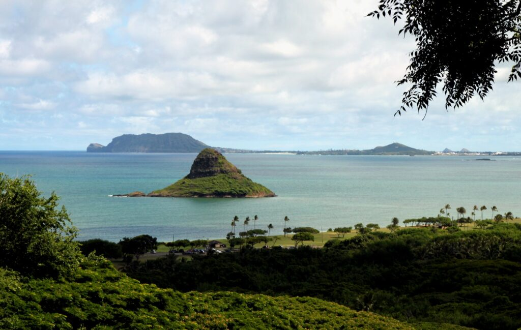 An islet in Kualoa Ranch called the chinaman's hat.