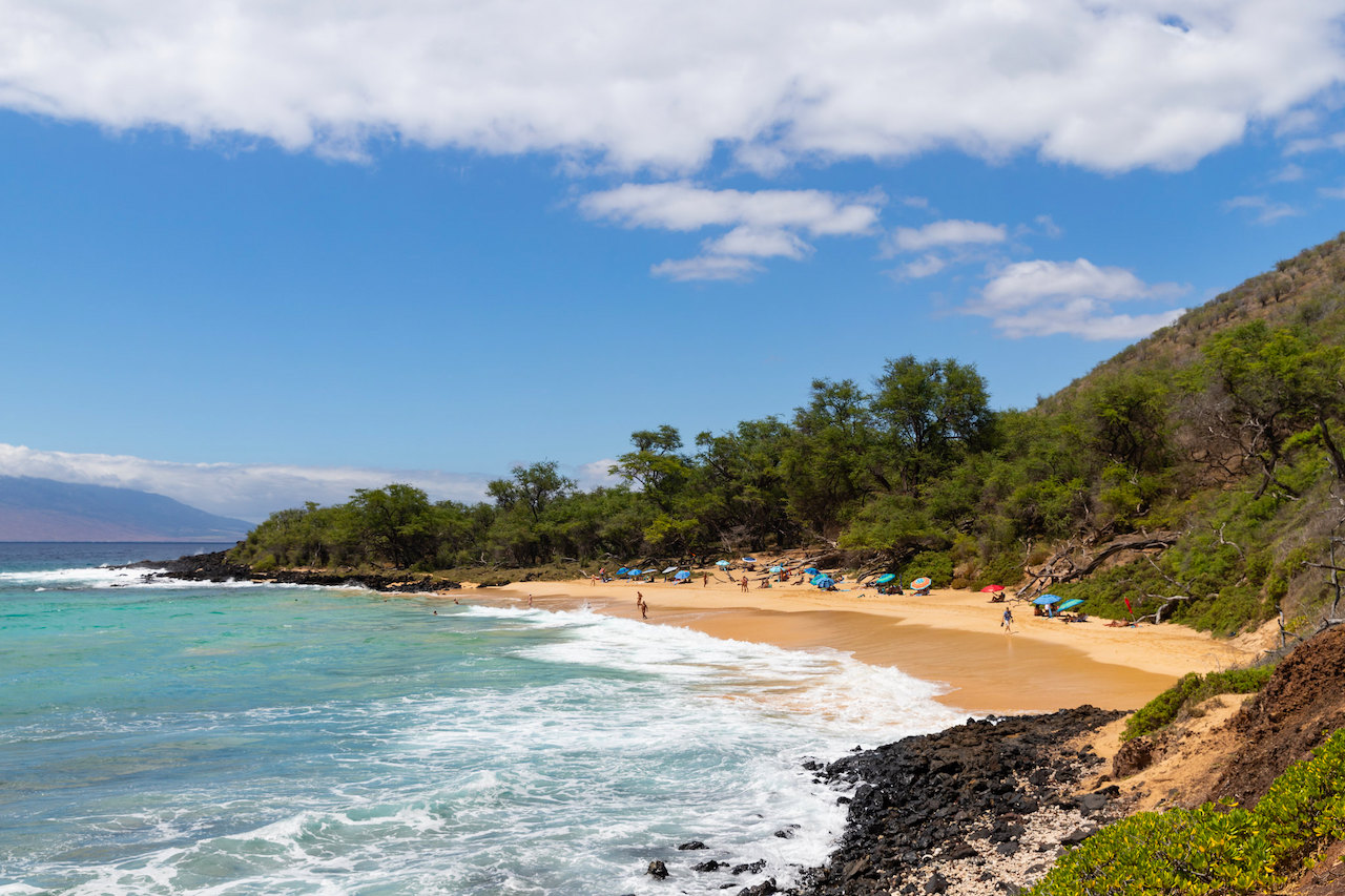 Little Beach aka Makena beach in Maui, Hawaii