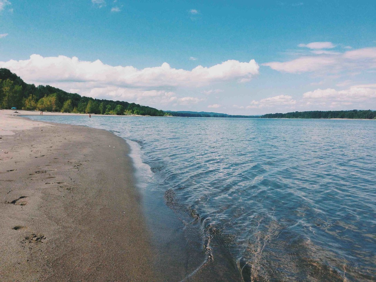 Collins Beach in Sauvie Island, Portland