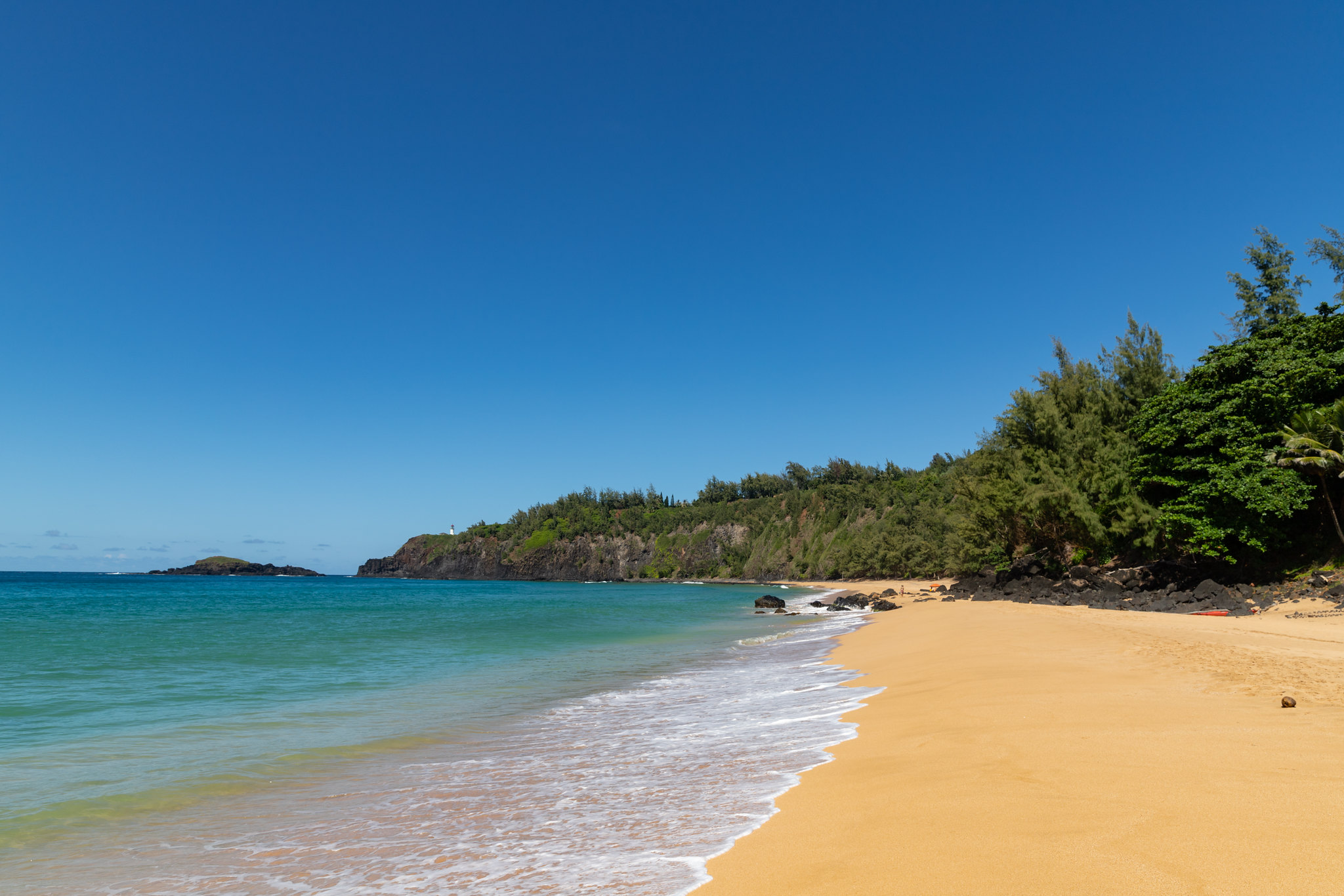 Secluded secret topless beach in Kauai, Hawaii