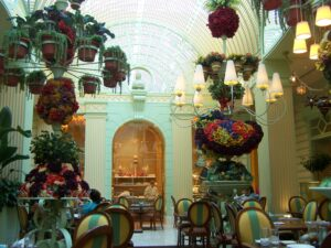 Flower arrangements at The Buffet at Wynn Las Vegas