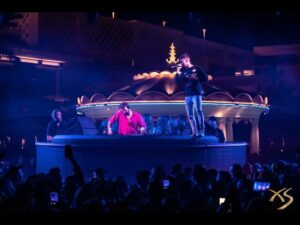 The Chainsmokers performing at XS Las Vegas