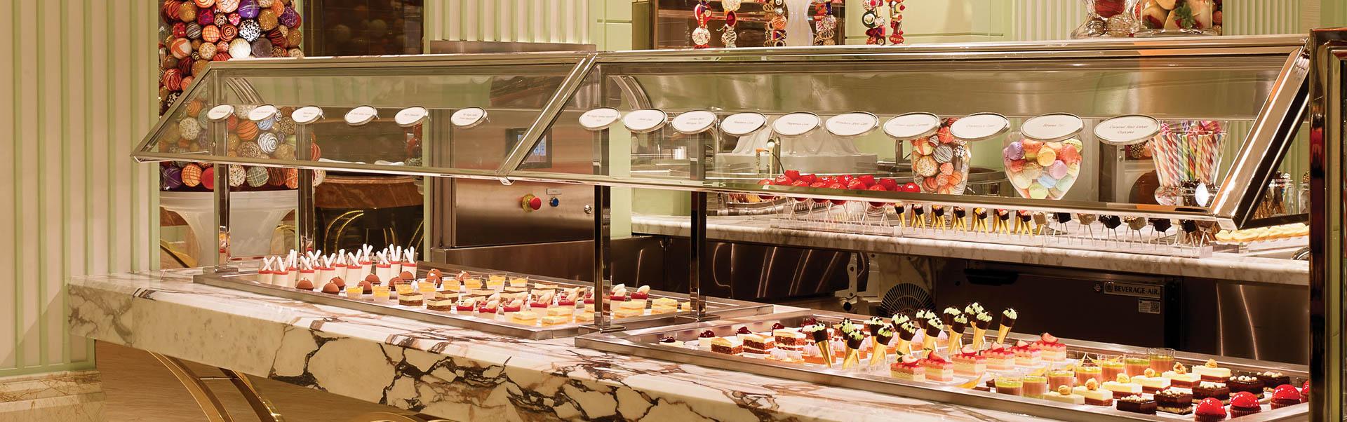 Wide spread of sushi at the Las Vegas Wynn Buffet