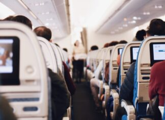 Long haul flight on an economy seat