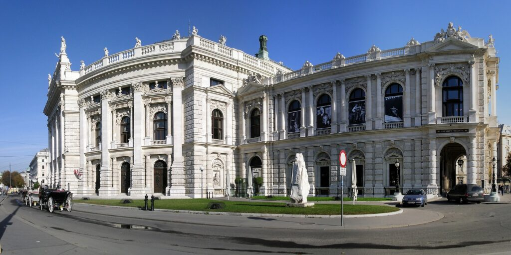 An old white building in Vienna