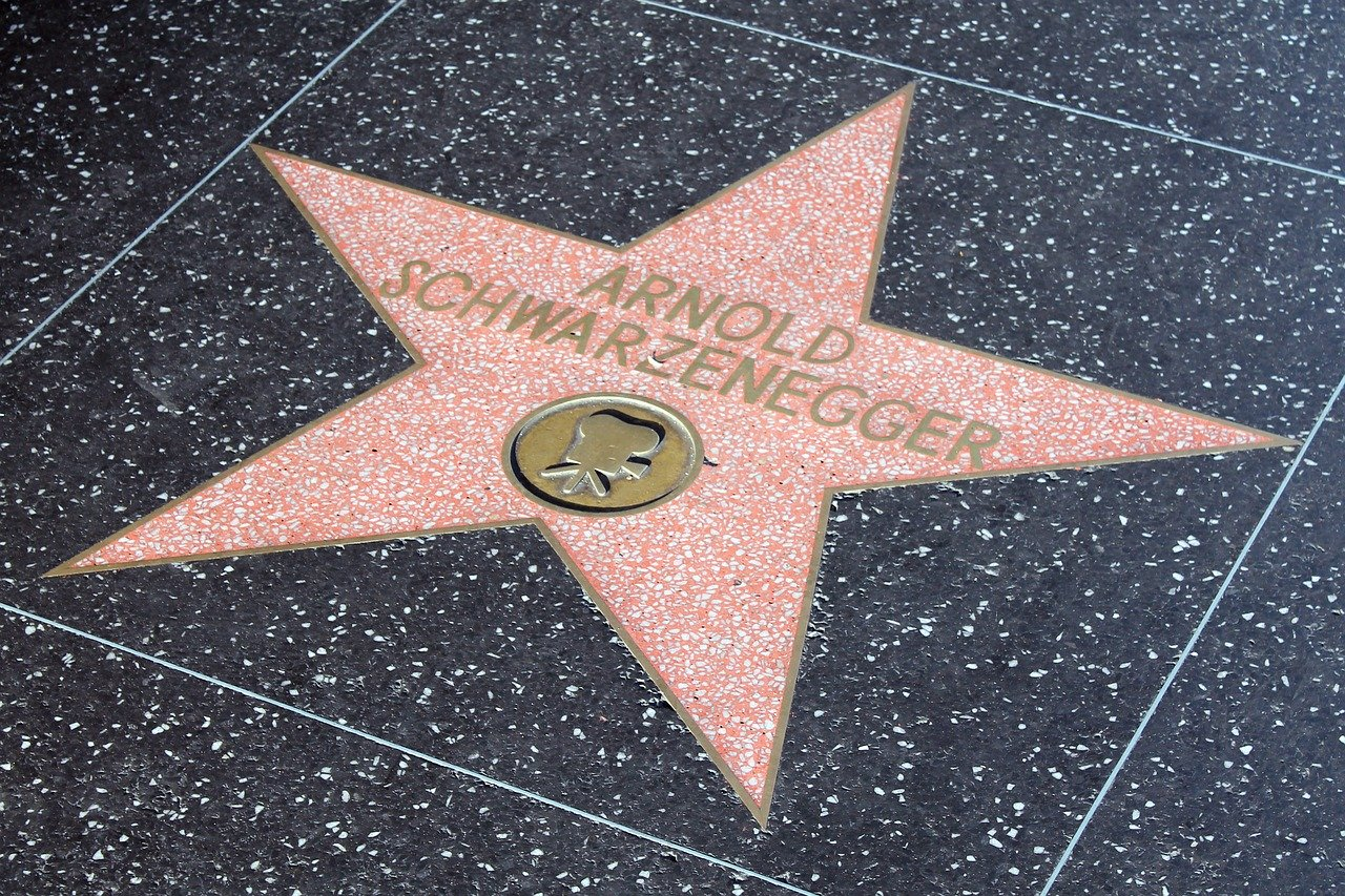 Arnold Schwarzenegger of Hollywood Walk of Fame in LA