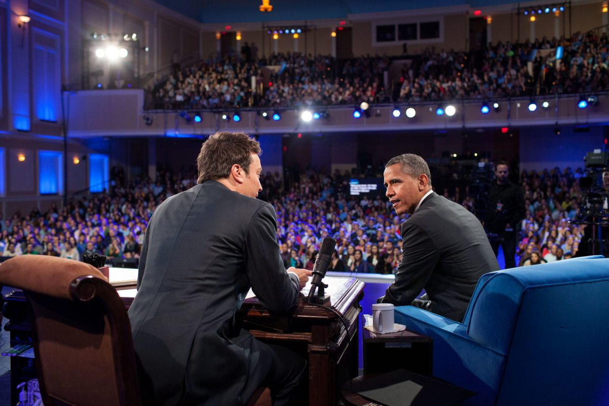Barack Obama on the Jimmy Fallon Late Night Show