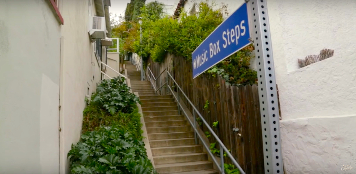 The iconic music box steps in Los Angeles