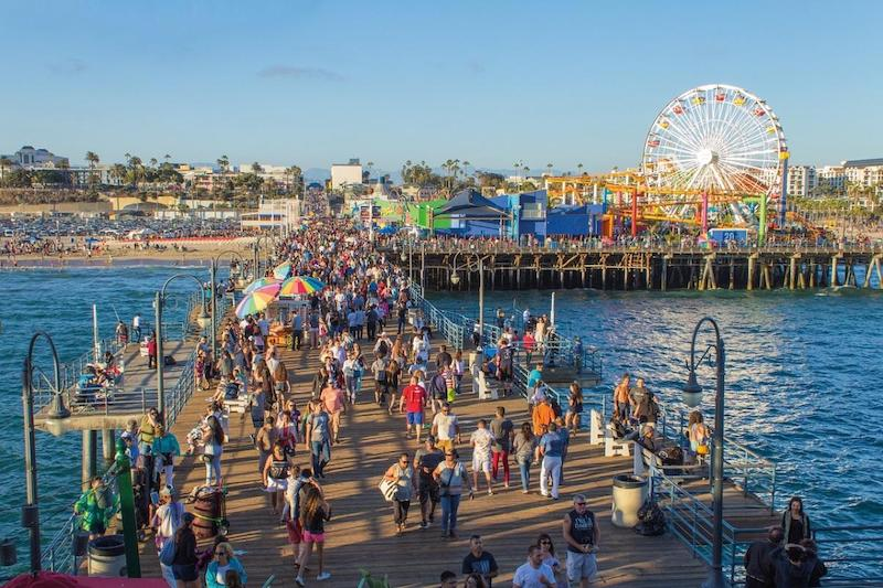 Summer Event at Santa Monica Pier and Beach