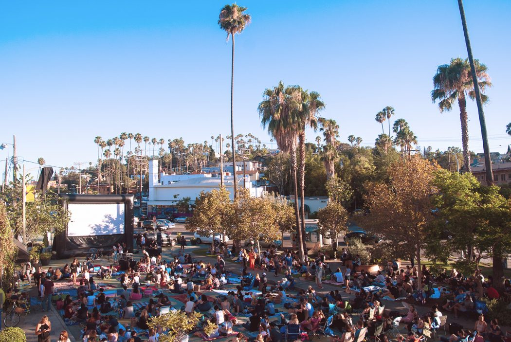 Audiences watching movies at the Silver Lake Picture Show in L.A
