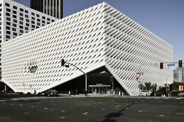 The exterior of the Broad in Los Angeles