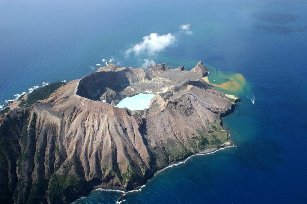 An Island with a crater.