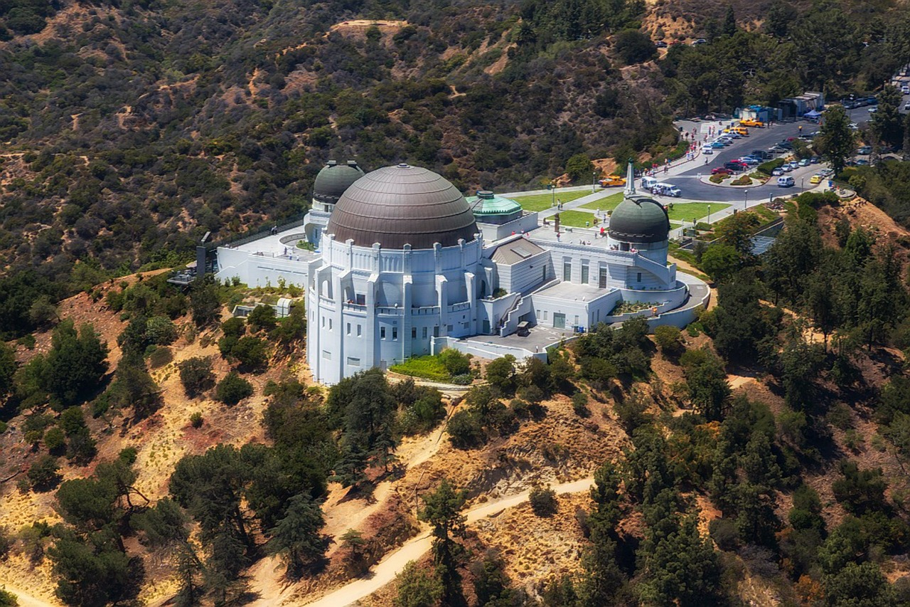 Aerial view of Griffith Observatory in Los Angeles