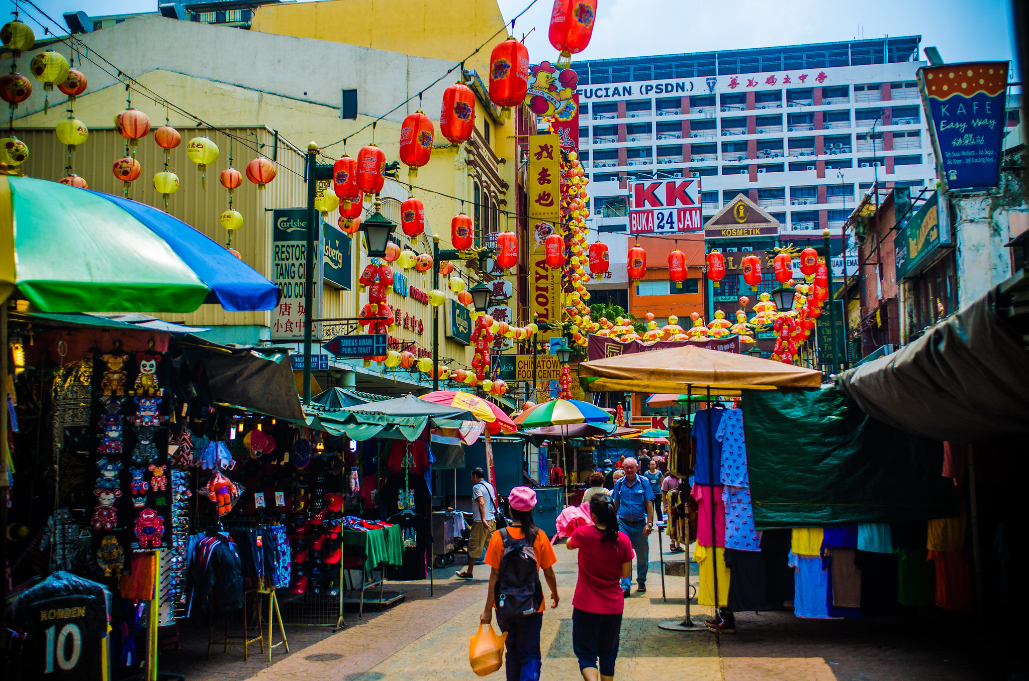 Chinatown Market Kuala Lumpur in Malaysia