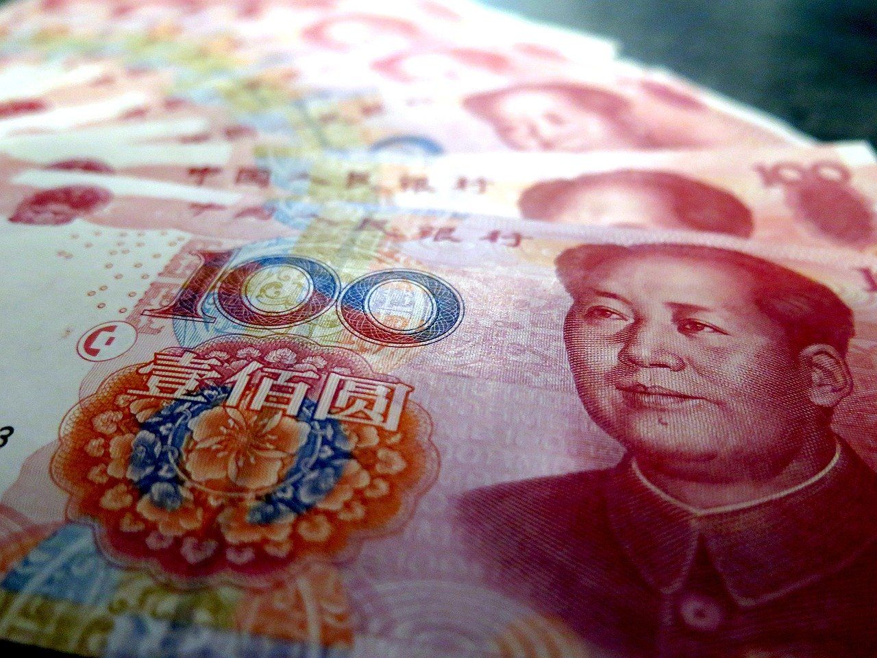 One hundred Chinese Yuan bank note