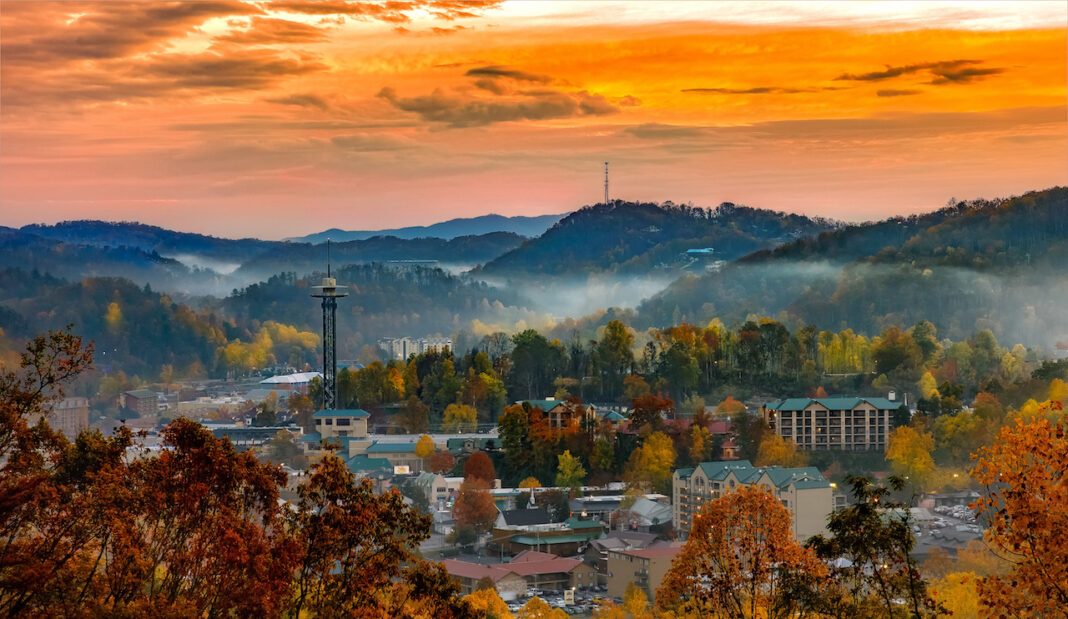 Gatlinburg, TN cityscape