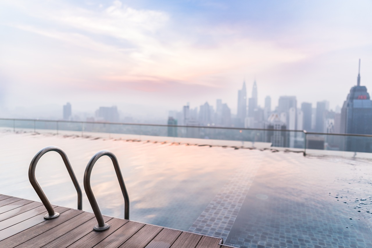 Hotel in Kuala Lumpur with a view of the Kuala Lumpur Petronas Tower