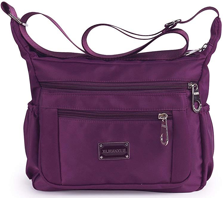 Water-resistant MHCNLL crossbody travel purse for everyday use