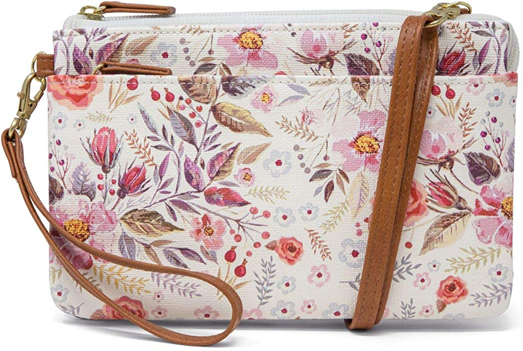 Floral patterned Mundi Brady Anti theft Womens Crossbody Bag