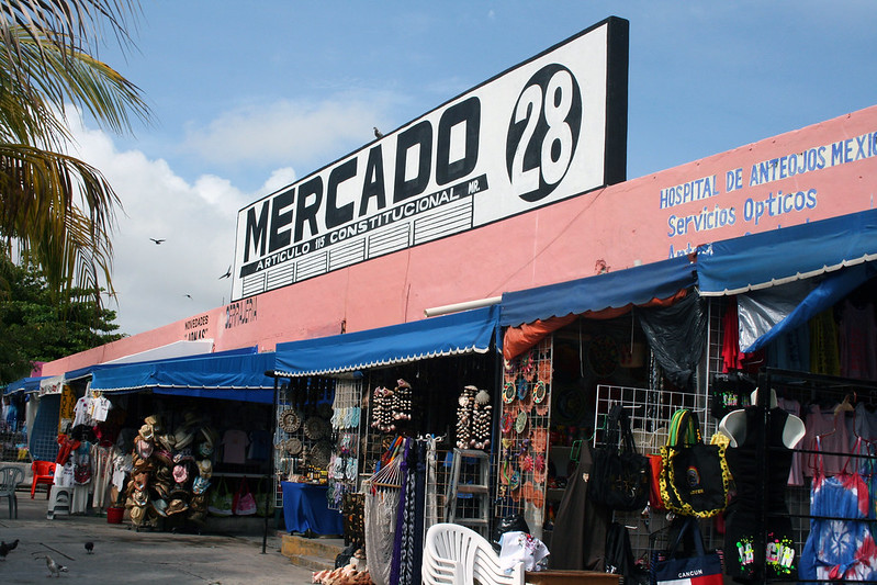 Mercado 28, a flea market in Cancun, Mexico.