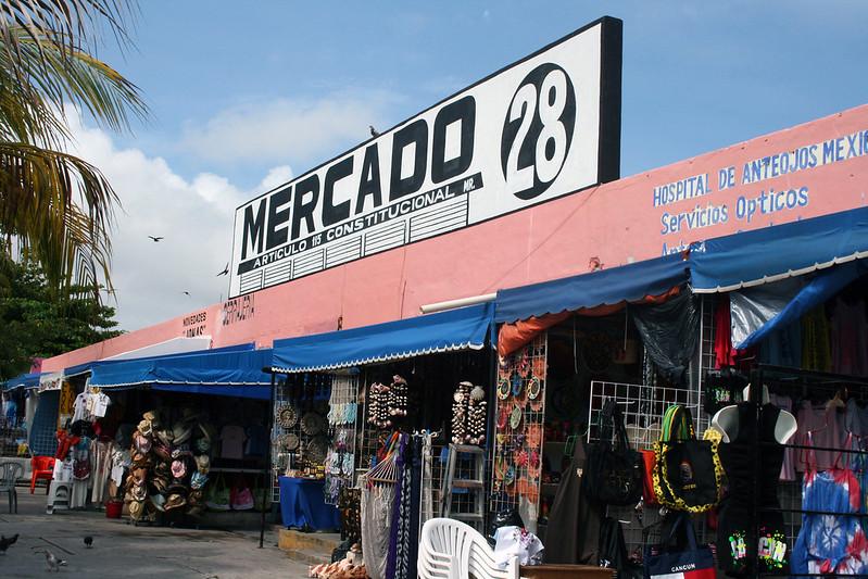 Mercado 28, a flea market in Cancun, Mexico.