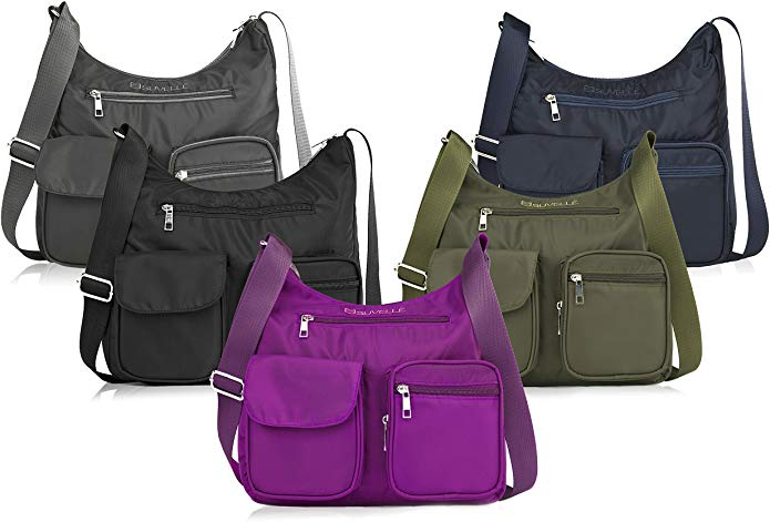 SUVELLÉ Crossbody Bag comes in 5 different colour options including purple, green, blue, black and grey.