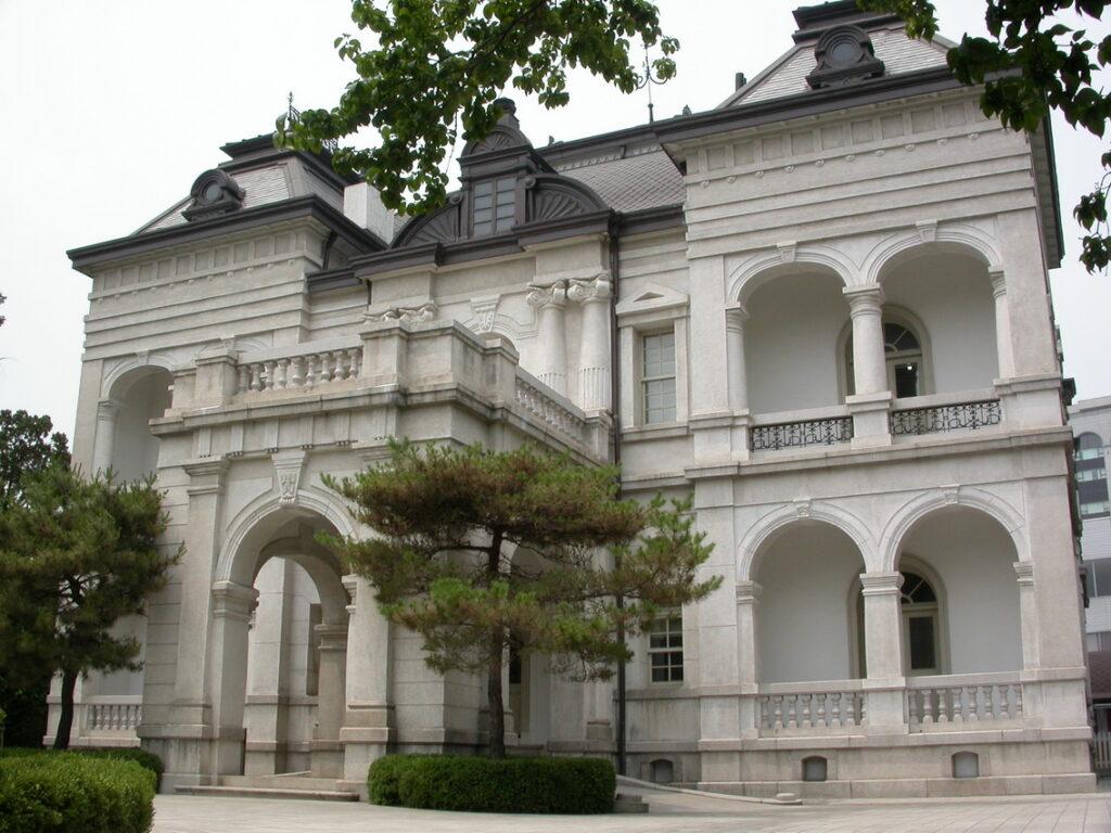 A 2-storey white mansion that served as the Kim Shin House as Goblin Kdrama.
