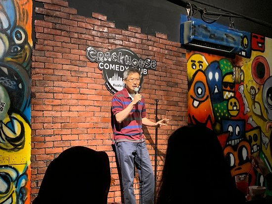 A comedian sharing a story at Comedy Club Kuala Lumpur