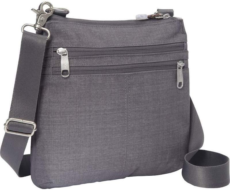 Grey colour nylon material crossbody Bag